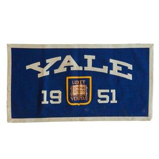 Vintage Yale 1951 Felt Banner For Sale