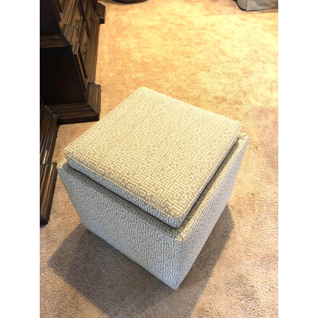 Rowe Nelson Storage Ottoman For Sale - Image 4 of 5