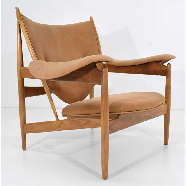Sand Finn Juhl Chieftain Chair and Ottoman by Baker For Sale - Image 8 of 13