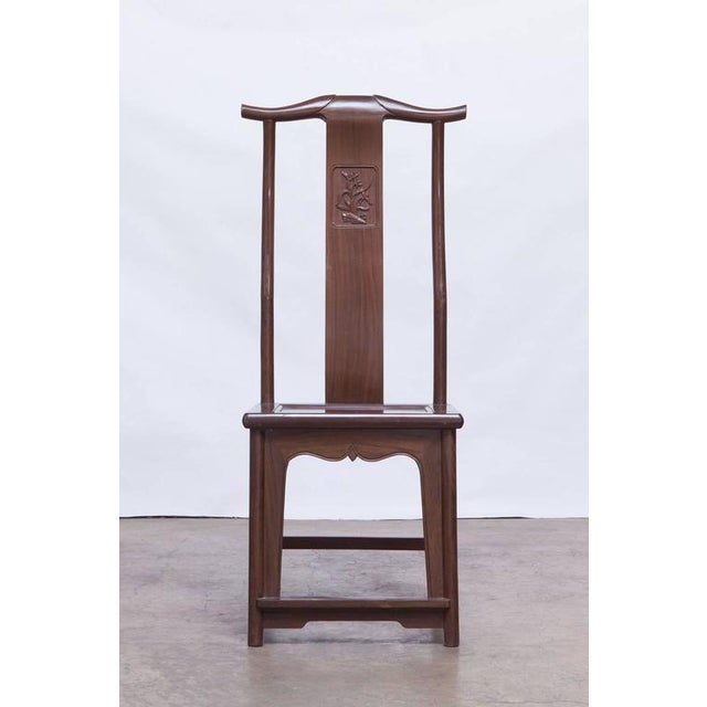 Chinese Yoke Back Officials Hat Chairs - Set of 6 - Image 2 of 10