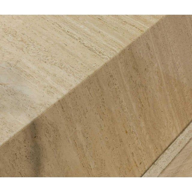 1970s Vintage Travertine Table For Sale - Image 4 of 5