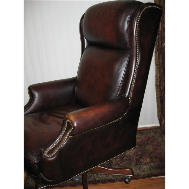 Hooker Leather Office Chair - Image 3 of 10