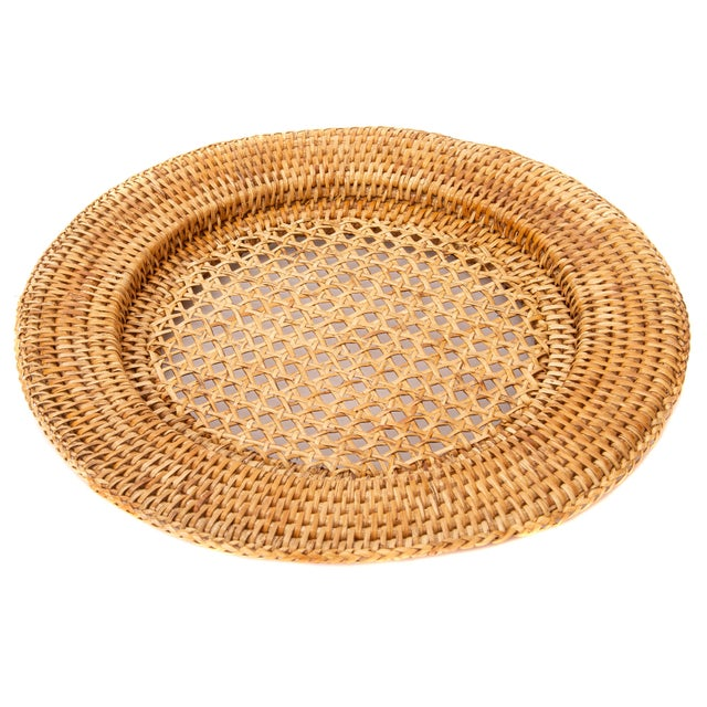 Artifacts Trading Company's hand woven rattan chargers provide the perfect accent to any table setting with a tight weave,...