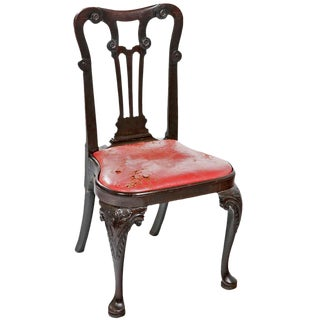 19th Century George II Walnut Side Chair For Sale