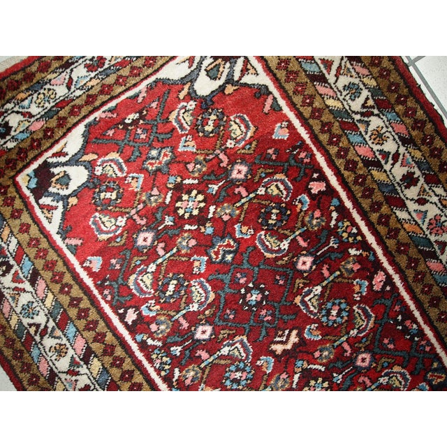 Vintage Persian Hamadan Runner- 2′7″ × 7′ For Sale - Image 5 of 10