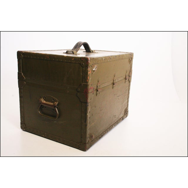 Vintage Industrial Green Military Hard Case - Image 3 of 11
