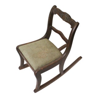 Late 19th Century Antique Children's Rocking Chair For Sale