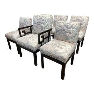 """1950s Vintage Michael Taylor for Baker """"Far East"""" Dining Chairs - Set of 6 For Sale"""