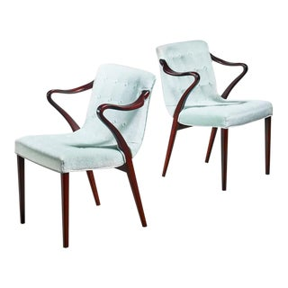 Axel Larsson Pair of Model 1522 Armchairs, Bodafors, 1930s For Sale