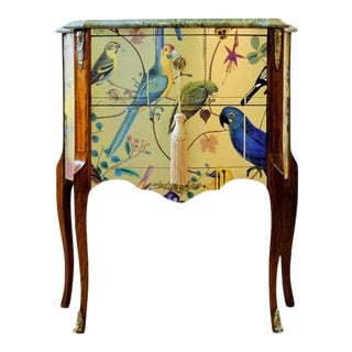 Louis XV Bird Motif Commode For Sale