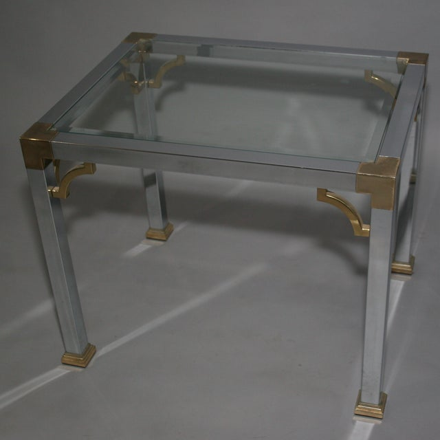 Mastercraft Chrome Brass Chinoiserie Side Table - Image 6 of 9