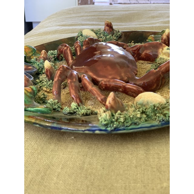 Late 20th Century Minton Crab Majolica Palissy Plate For Sale - Image 5 of 10