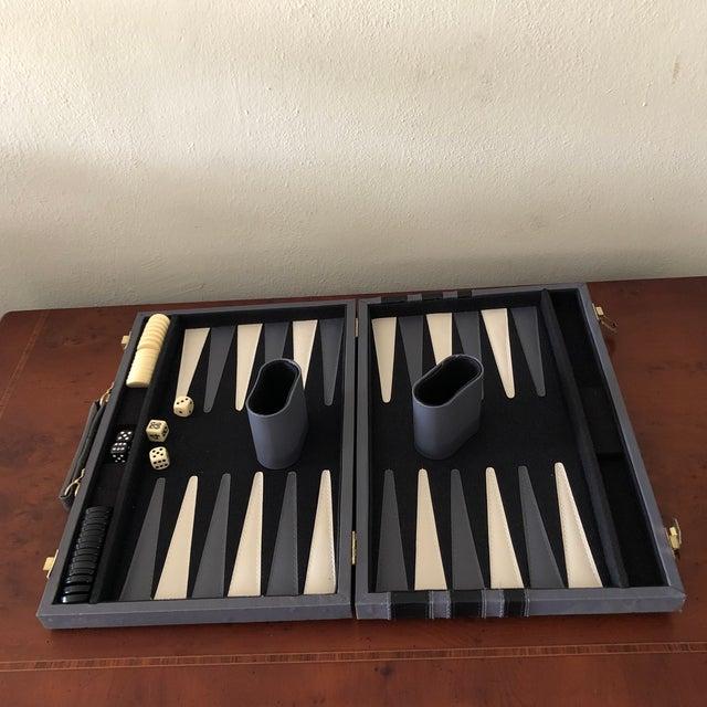 Italian Italian Leather Backgammon Set For Sale - Image 3 of 8