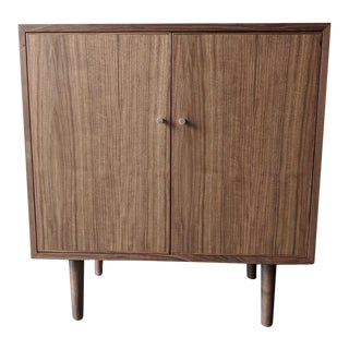 Mid Century Style Walnut Bar/Cabinet For Sale