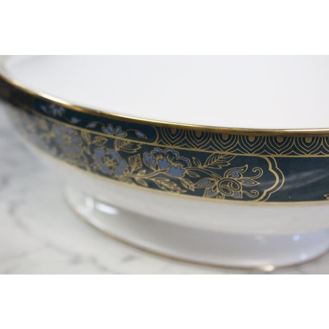 Mid 20th Century Royal Doulton Gold and Turquoise Accent Tureen For Sale In New York - Image 6 of 11