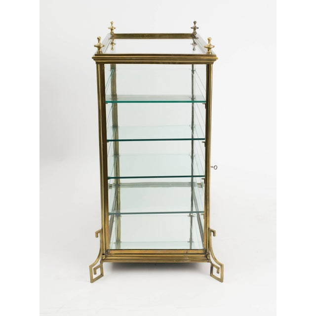 Italian Brass and Glass Display Cabinet For Sale - Image 10 of 11