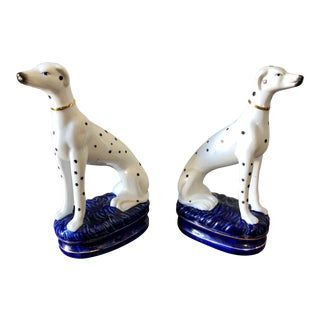 Mid 20th Century Staffordshire Dalmatians - a Pair For Sale