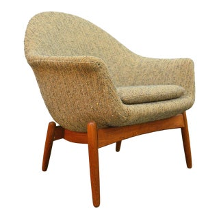 Swedish Modern Scoop Chair in Teak by Scapa For Sale
