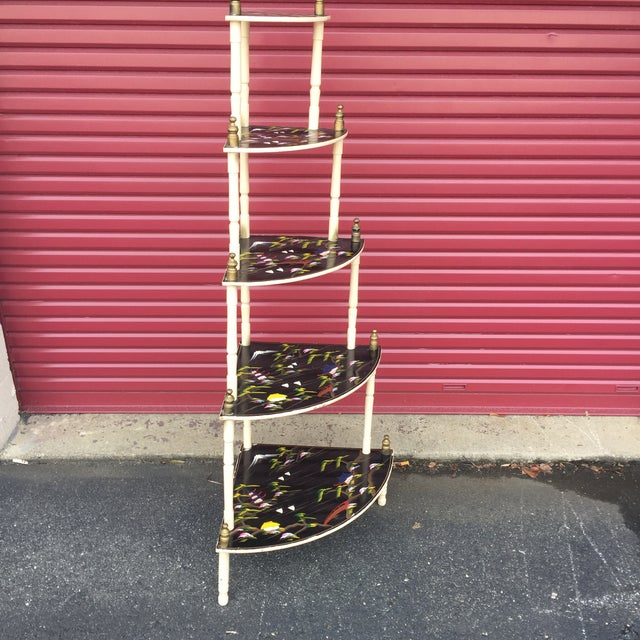 Chinoiserie 5 Tier Corner Shelf For Sale - Image 11 of 11