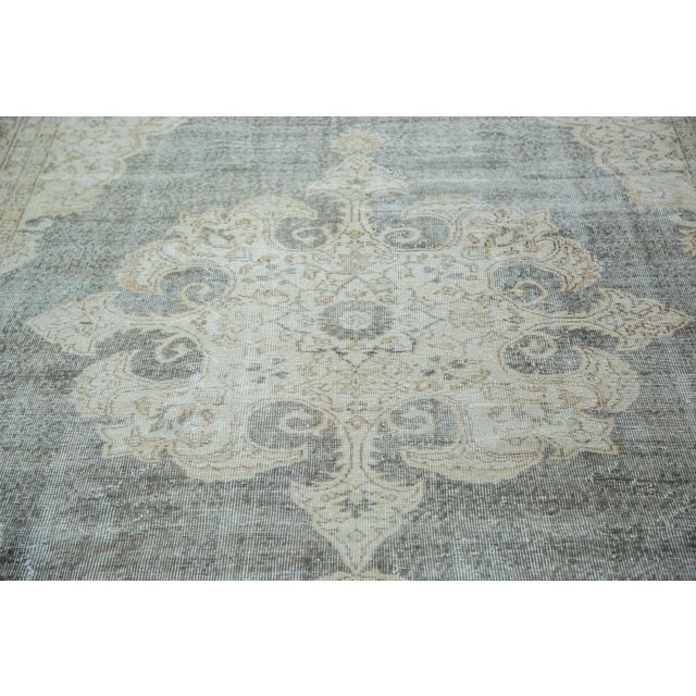 "Distressed Scalloped Oushak Carpet - 6'10"" x 10'3"" - Image 2 of 5"