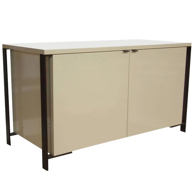 Fabry Bronze Frame Media Cabinet For Sale