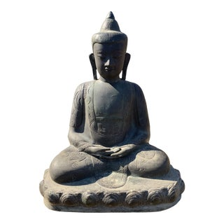 Cast Iron Buddha Statue For Sale