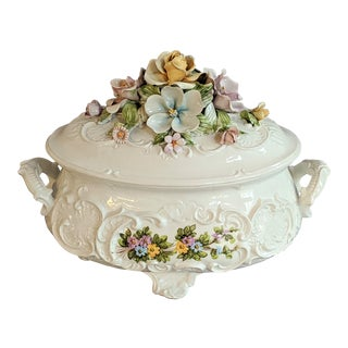1940s Capodimonte Soup Tureen For Sale