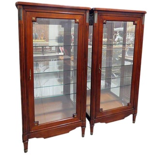 Pair of Directoire Style Display Cabinets