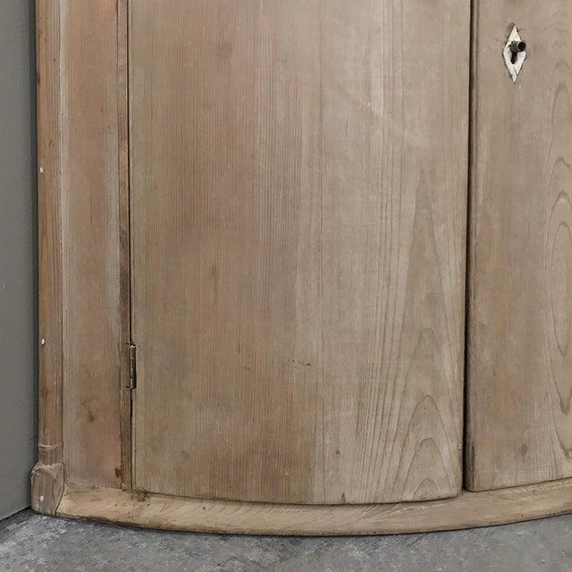 Gustavian (Swedish) 19th Century Swedish Stripped Pine Corner Cabinet For Sale - Image 3 of 12