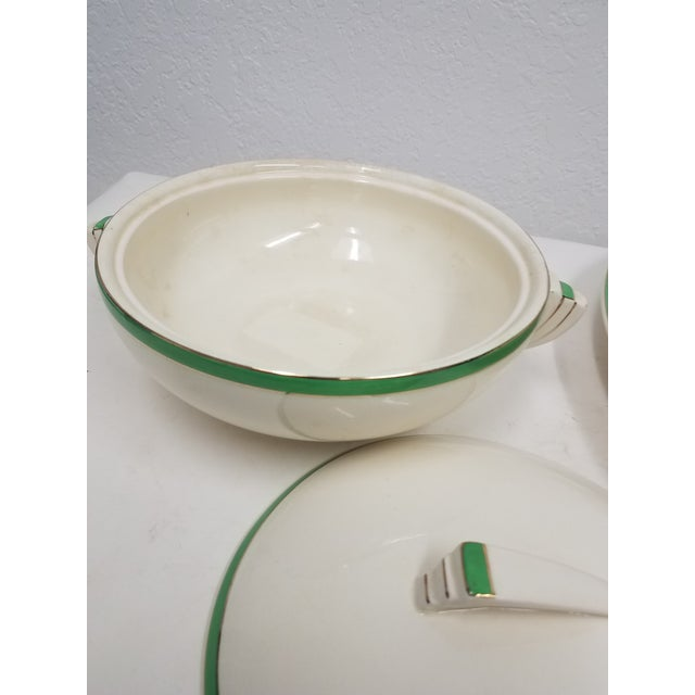 Ceramic Antique Wedgwood Art Deco Serving Platters and Bowls - Found in Devon For Sale - Image 7 of 12