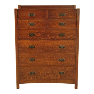 Stickley Centennial Finish Mission Oak Arts & Crafts Highboy Chest