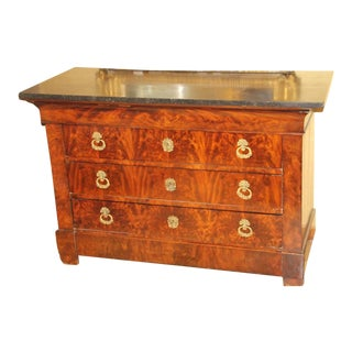 1830s French Empire Mahogany Chest For Sale