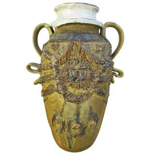 """Mid-Century Ceramic """"Pot"""" Vase For Sale"""