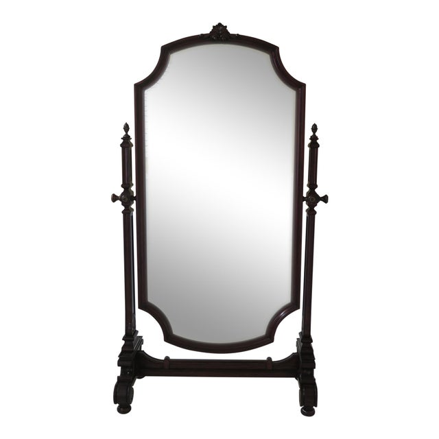 Maitland Smith Mahogany Cheval Dressing Mirror For Sale - Image 12 of 12