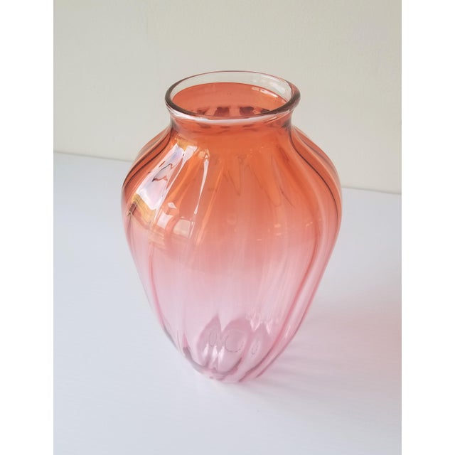 Contemporary 1987 Robbie Miller Blown Glass Vase for Traver Gallery Research For Sale - Image 3 of 13