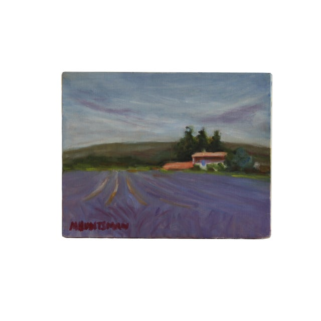 Lavender Field Landscape Oil Painting - Image 2 of 3