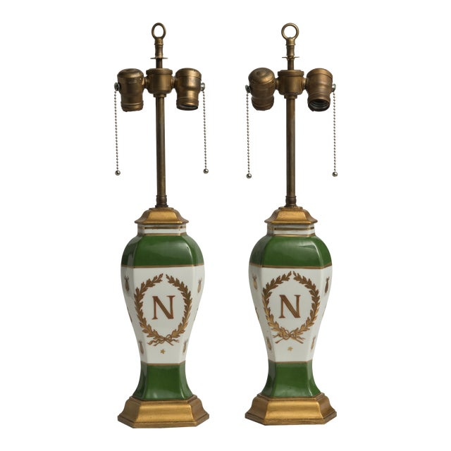 Late 19th Century French Napoleonic Lamps Style of Sèvres - a Pair For Sale
