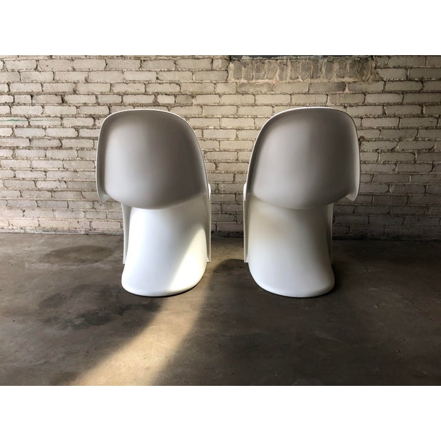 Modern Vitra Panton Matte White S Chairs - A Pair For Sale - Image 9 of 13