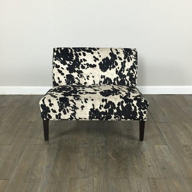 Black & White Cowhide Loveseat - Image 5 of 11