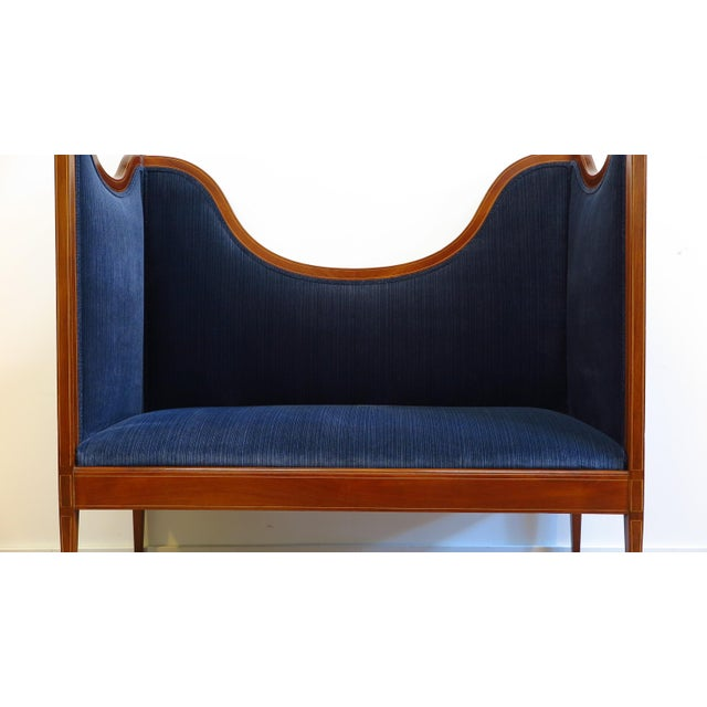 Antique Sheraton Style Settee For Sale - Image 11 of 13