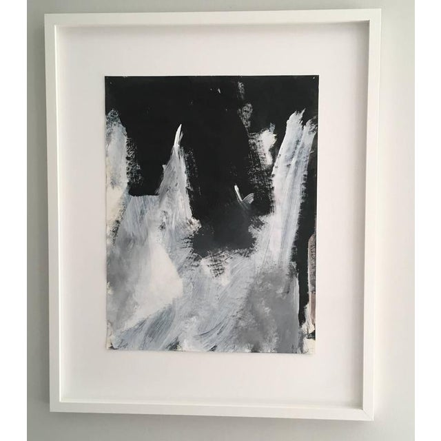 Stephanie Cate Abstract Europa 2 Study Black and White Painting on Paper, Framed For Sale In New York - Image 6 of 6