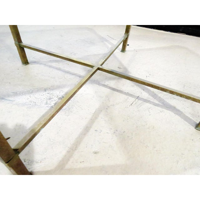 Mid 20th Century Italian Modern Glass Top Coffee Table For Sale - Image 5 of 11