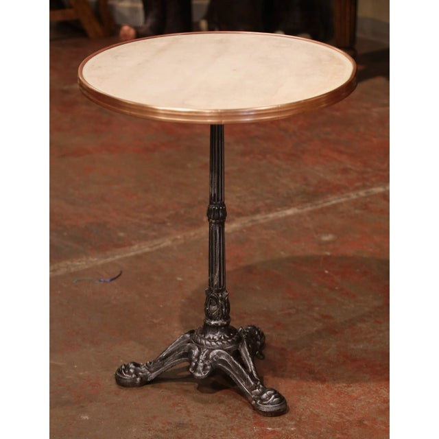 19th Century Napoleon III French Iron and Wood Gueridon Pedestal Table For Sale In Dallas - Image 6 of 8