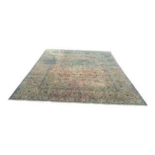 Persian Tribal Overize Handwoven Beige Floor Rug - 9′6″ × 12′5″
