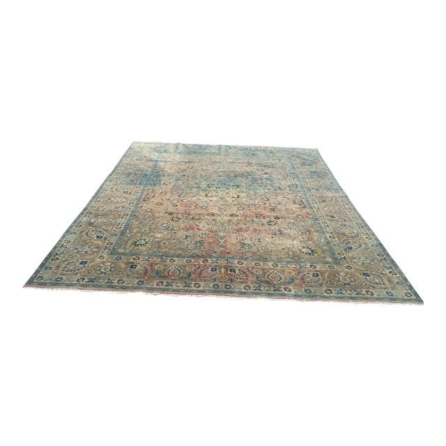 Persian Tribal Overize Handwoven Beige Floor Rug - 9′6″ × 12′5″ For Sale