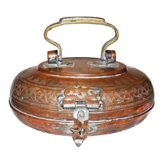 Hammered Copper Lunch Box For Sale