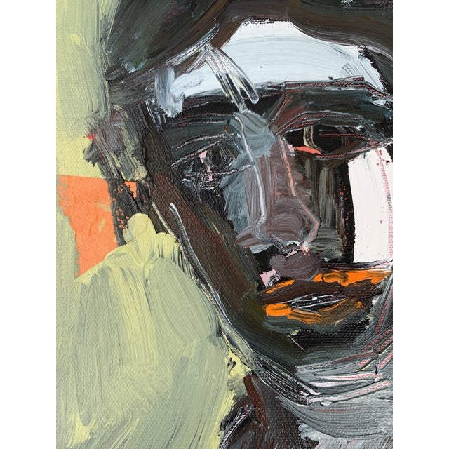 """""""Figure Study Portrait I"""" by Anne Darby Parker Collage, Oil, and Acrylic on Canvas 9x12 Weekly modeling sessions Frame not..."""