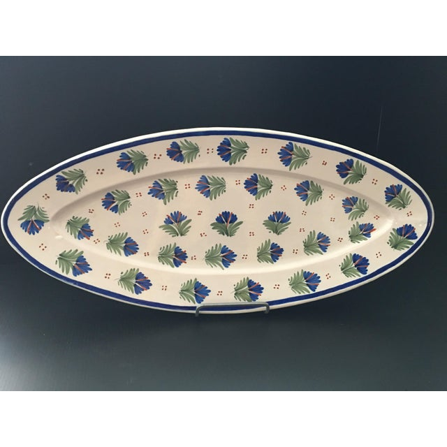 French Antique French Provincial Henriot Quimper Faience Platter For Sale - Image 3 of 7