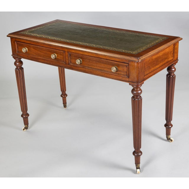 Late Regency Mahogany Small Writing Table, Circa 1830 For Sale In Boston - Image 6 of 11