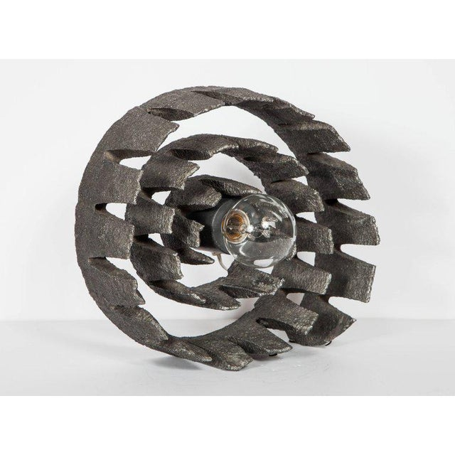 Abstract 1960's Mid-Century Modern Brutalist Sculptural Lamp, Germany For Sale - Image 3 of 11